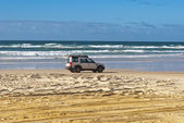 Fraser Island, Australia, motorway on the sand — Stock Photo