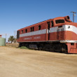 Stock Photo: Abandoned train in Marree, South Australia