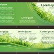 Eco design banners template — Stock Vector