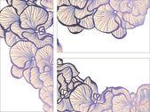 Floral romantic design template — Stock Vector