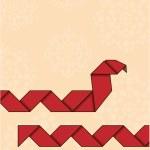 Origami snake — Stock Vector #11703746