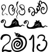 2013 ormar som — Stockvektor
