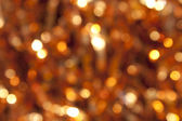 Photo of blurred Christmas lights at night. — Stock Photo