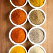 Stock Photo: Spices in ramekins