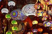 Turkish lamps in the Grand Bazaar, Istanbul, Turkey — Stock Photo