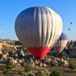 Stock Photo: Hot air balloons in Cappadocia, Turkey