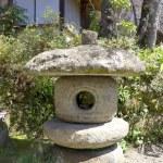 Japanese traditional stone lantern. — Stock Photo