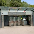 Stock Photo: Entrance to metro station Croix-Paquet in Lyon
