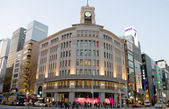 Wako store in Ginza shopping district, Tokyo, Japan — Stock Photo