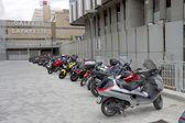 парковка скутеры, лион, франция. — Стоковое фото