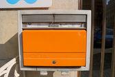 Orange mailbox — Stock Photo
