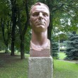 Stock Photo: Bust of Yuri Gagarin, first cosmonaut. Kaliningrad, Russia