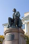 Monument for Russian scientist Mikhail Lomonosov — Stock Photo