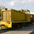 Soviet diesel locomotive TU7A — Stock Photo