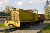 Soviet diesel locomotive TU7A — Stock Photo
