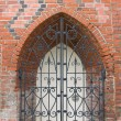 Forged gates of Konigsberg Cathedral in Kaliningrad, Russia - Stock Photo