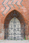 Forged gates of Konigsberg Cathedral in Kaliningrad, Russia — Stock Photo