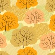 Seamless pattern with autumn trees. Vector illustration. — 图库矢量图片