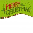 Vintage Merry Christmas Card. Hand drawn vector lettering. — Stock Vector