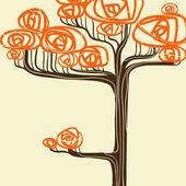 Piękne drzewo jesień dla swojego projektu. ilustracja wektorowa. — Wektor stockowy