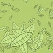 Pattern of fly leaves. Vector seamless background. — Stock Vector