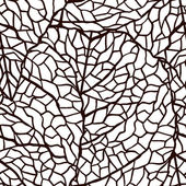 Vector illustration of leaves. (Seamless stylish pattern) — Stockvector