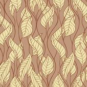 Patroon van herfst macro swirl verlaat. vector achtergrond. — Stockvector