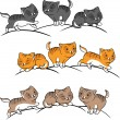 Royalty-Free Stock Vector Image: Collection of cute funny cats vector set.