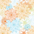 Cтоковый вектор: Vector background with hand drawn flowers. (Seamless Pattern)