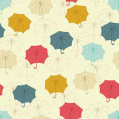 Seamless pattern with cute umbrellas. Vector illustration. — Stock Vector