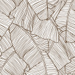 Vector illustration leaves of palm tree. Seamless pattern. — Vector de stock