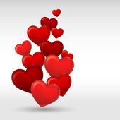 Fundo de coração dia dos namorados vermelha elegante. ilustração vetorial. — Vetorial Stock