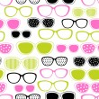 Glasses and sunglasses seamless pattern. Vector texture. — Stock Vector