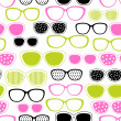 Glasses and sunglasses seamless pattern. Vector texture. - Imagens vectoriais em stock