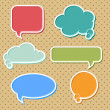 Collection of colorful speech bubbles and dialog balloons — Stock Vector #11919492