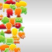 Sociala medier Ikonuppsättning nätverk smidig konsistens — Stockvektor