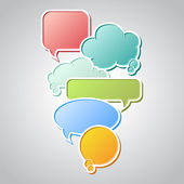 Collection of colorful speech bubbles and dialog balloons — Stock Vector
