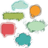 Collection of colorful speech bubbles and dialog balloons — Stok Vektör