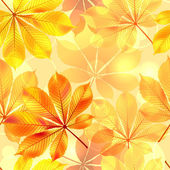 Autumn seamless background with leaves. Vector illustration. — Stock Vector