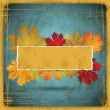 EPS10 Autumn leaves grunge background. Vector illustration. — Stockvector