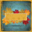 EPS10 Autumn leaves grunge background. Vector illustration. — Vector de stock