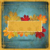 EPS10 Autumn leaves grunge background. Vector illustration. — Stock Vector