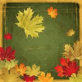 Eps10 podzimní listí grunge pozadí. vektorové ilustrace. — Stock vektor