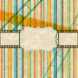 Vintage scratch background with film frame. Vector Eps 10. — Stock Vector