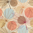 Royalty-Free Stock Vector Image: Seamless pattern with autumn leaves in a retro style.