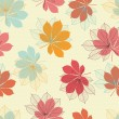 Seamless pattern with autumn leaves in a retro style. — Stock Vector