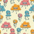 Monsters modern seamless pattern in retro style. — 图库矢量图片 #12140331