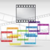 Abstracte achtergrond met een filmstrip. vector eps 10. — Stockvector