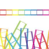 Abstrait avec une bande de film. illustration vectorielle. — Vecteur
