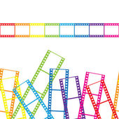 Abstrakt bakgrund med en filmremsa. vektor illustration. — Stockvektor